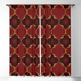 Red Islamic Geometric - Red Islamic Pattern - Red Islamic Pattern Geometric Blackout Curtain