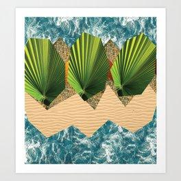 Tropical Summer Beach Art Print