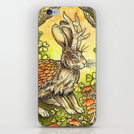 Winged Jackalope in Summer Plumage iPhone Skin