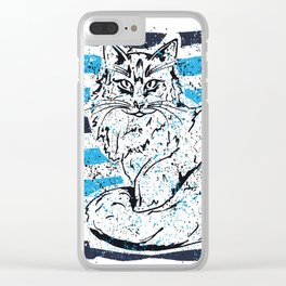 Cat stripes Clear iPhone Case