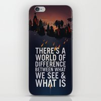 bioshock infinite iPhone & iPod Skins featuring Bioshock Infinite Quote by Simon Ward