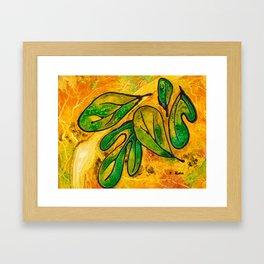 Sassafras Leaves Framed Art Print