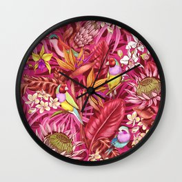 Stand out! (sunset flame) Wall Clock
