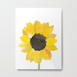 Watercolor Sunflower Metal Print
