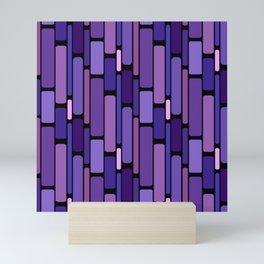 Purple Indigo Retro Blocks Mini Art Print
