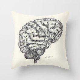 BALLPEN BRAIN 2 Throw Pillow