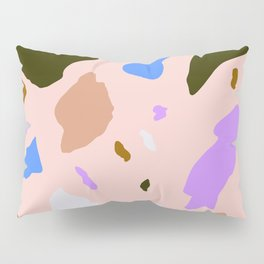 Pink, blue, browns Terrazo  Pillow Sham