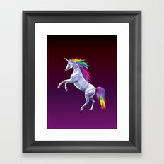 Geometric Unicorn Framed Art Print