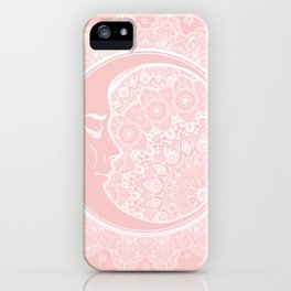 Mandala Moon Pink iPhone Case