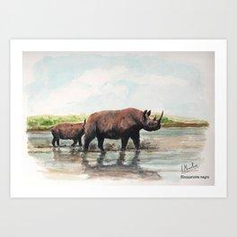 Rinocerontes Art Print