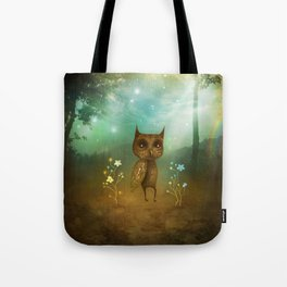 Owl and rainbow Tote Bag