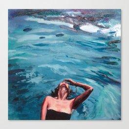 Immersing Canvas Print