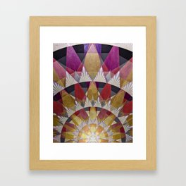 Triangle Explosion Framed Art Print