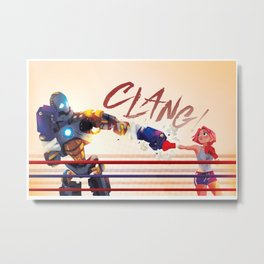 Punch to Punch Metal Print