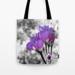Fuchsia Violet Flowers Pop Of Color Tote Bag