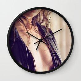 half nude rock girl Wall Clock