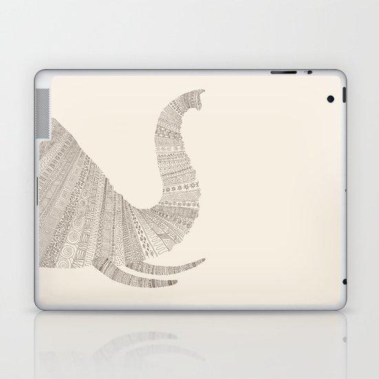 Elephant (On Beige) Laptop & iPad Skin