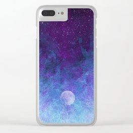 Violet Galaxy: Lunar Eclipse Clear iPhone Case