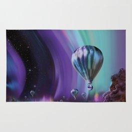 NASA Retro Space Travel Poster #7 Juniper Rug