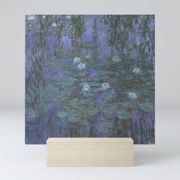 Blue Water Lilies Mini Art Print
