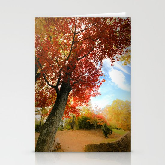 Autumn Tree Scene Stationery Cards