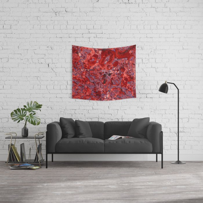 Marble Ruby Sapphire Violet Wall Tapestry