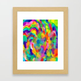 "Rainbow ""Watercolor"" Framed Art Print"