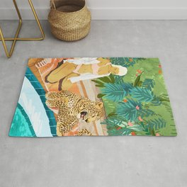 The Wild Side #illustration #painting Rug