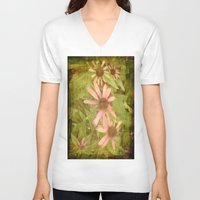 vintage flowers V-neck T-shirts featuring Vintage Flowers by Vitta