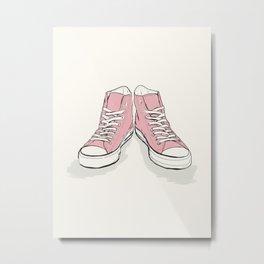 Pink Converse  Metal Print