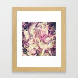Pastel petals Framed Art Print