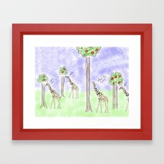 it ain't easy being a giraffe Framed Art Print
