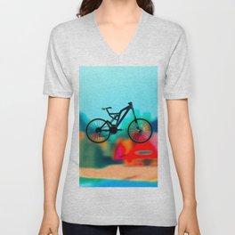 colourful  bike Unisex V-Neck