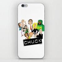 chuck iPhone & iPod Skins featuring CHUCK by Seedoiben