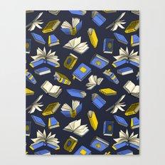 Spellbooks, blue Canvas Print