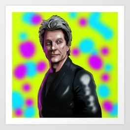 Bon Jovi color me in Art Print