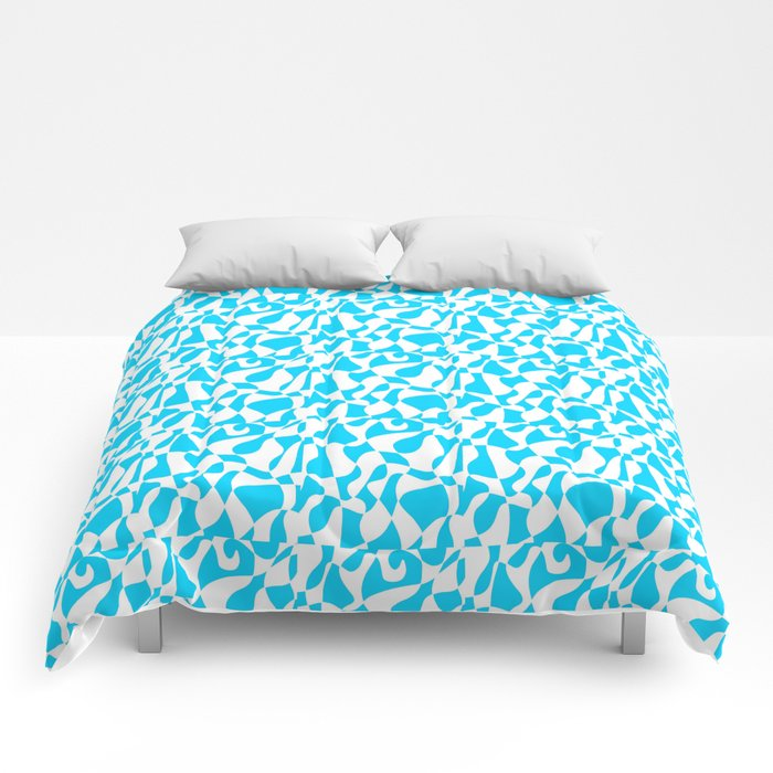 blue abstraction 2 – abstraction,abstract,minimalism,cerulean, bluish,reverie Comforters