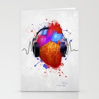 nicki Stationery Cards featuring No Music - No Life by Sitchko Igor