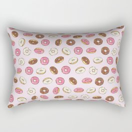 ALL the donuts! Rainbow on Pink Rectangular Pillow