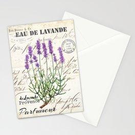 Lavender Antique Rustic Flowers Vintage Art Stationery Cards