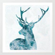 Ocean Deer Art Print