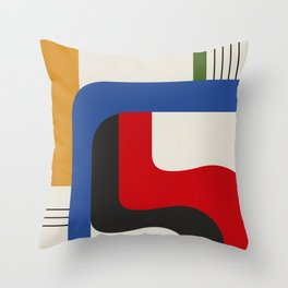 TAKE ME OUT (abstract geometric) Throw Pillow