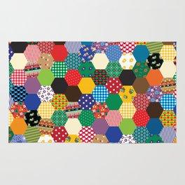 Hexagonal Patchwork Rug