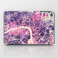 london map iPad Cases featuring London Mosaic Map #2 by Map Map Maps