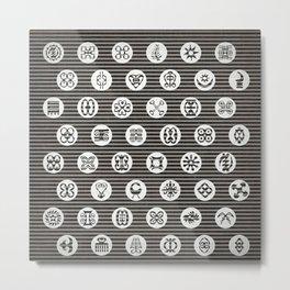 Adinkra Tribal symbols Metal Print