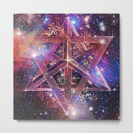 Cosmic Merkaba Metal Print