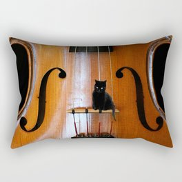 Black Cat And Violin #decor #society6 Rectangular Pillow