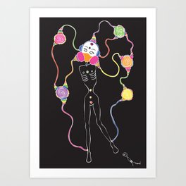 Connected 2 Art Print