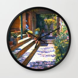 Garden Kitchen Staircase, Tuscany, Italy by Kristian Zahrtmann Wall Clock