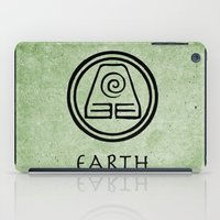 avatar the last airbender iPad Cases featuring Avatar Last Airbender Elements - Earth by bdubzgear